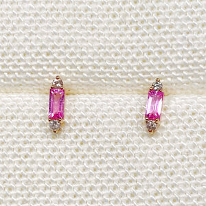 Pink Sapphire Party Stud