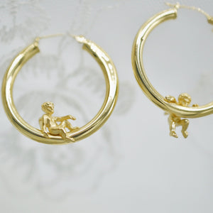 XL Cherub Hoops