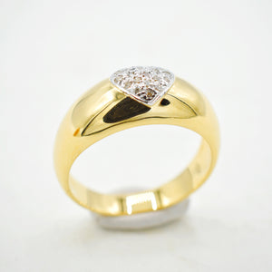 Heart Dome Band 18k