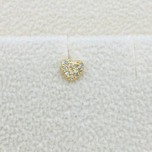 Load image into Gallery viewer, Diamond Heart Stud