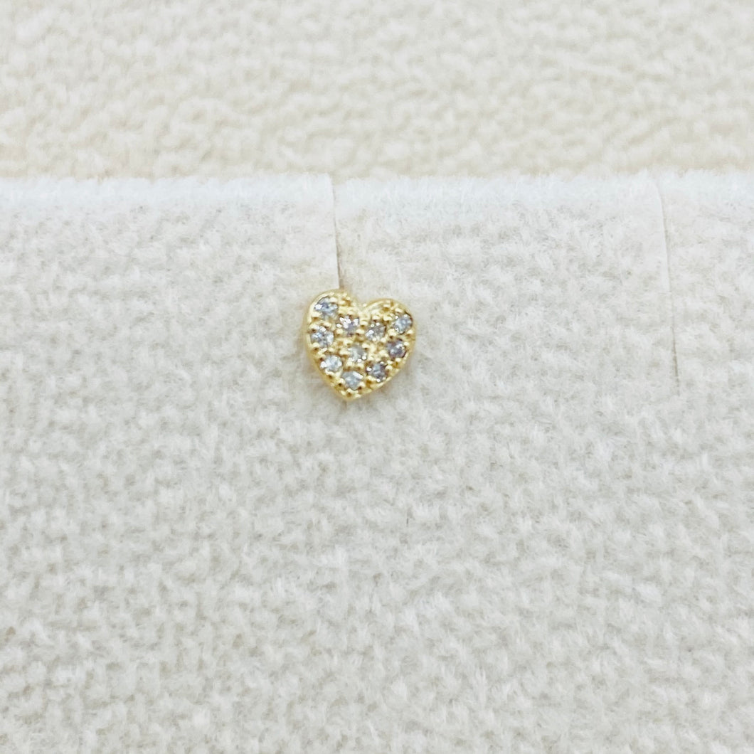 Diamond Heart Stud
