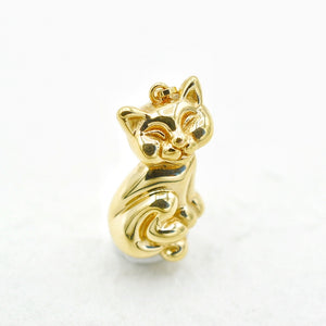 Puffy Kitty Cat Charm