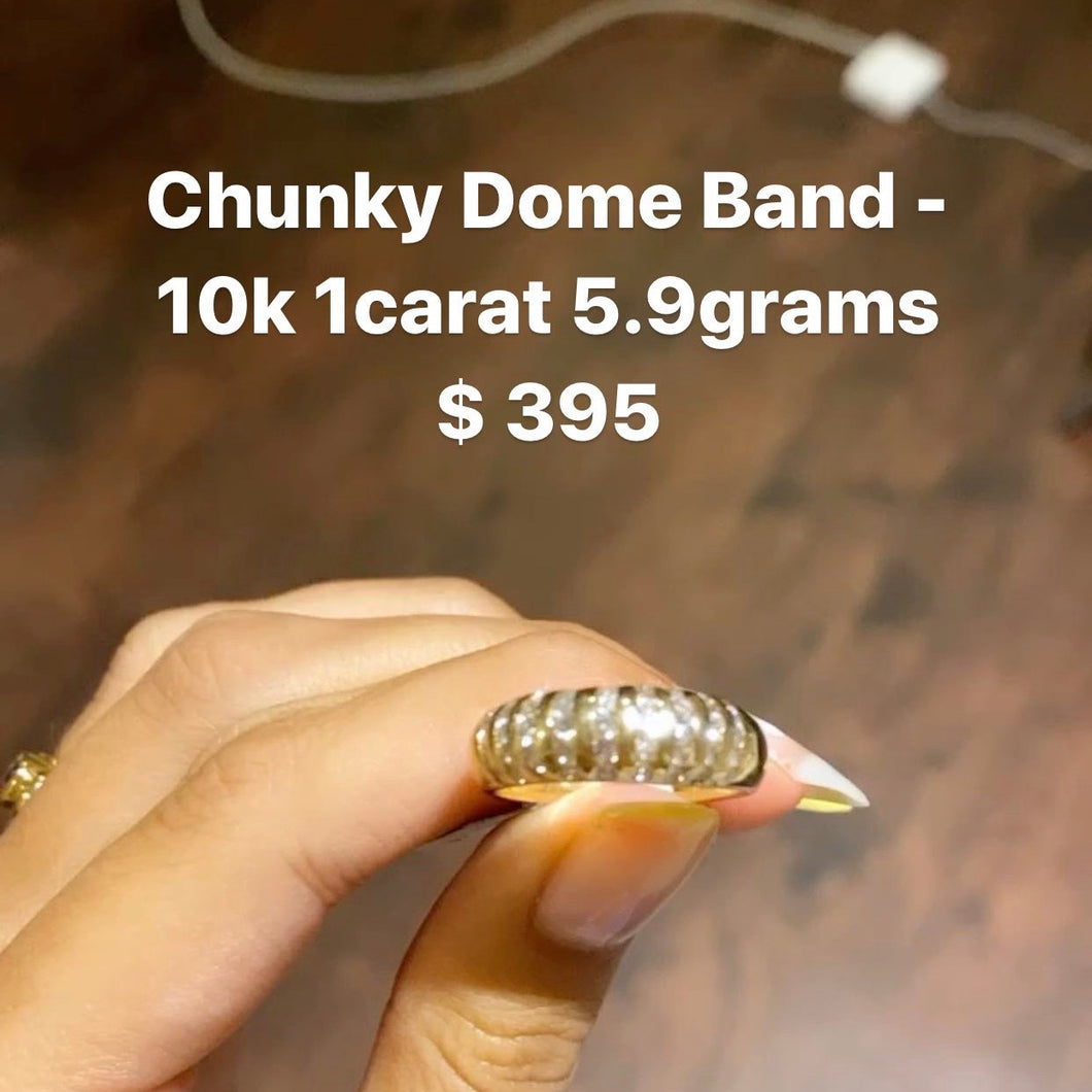 Chunky Diamond Dome Band