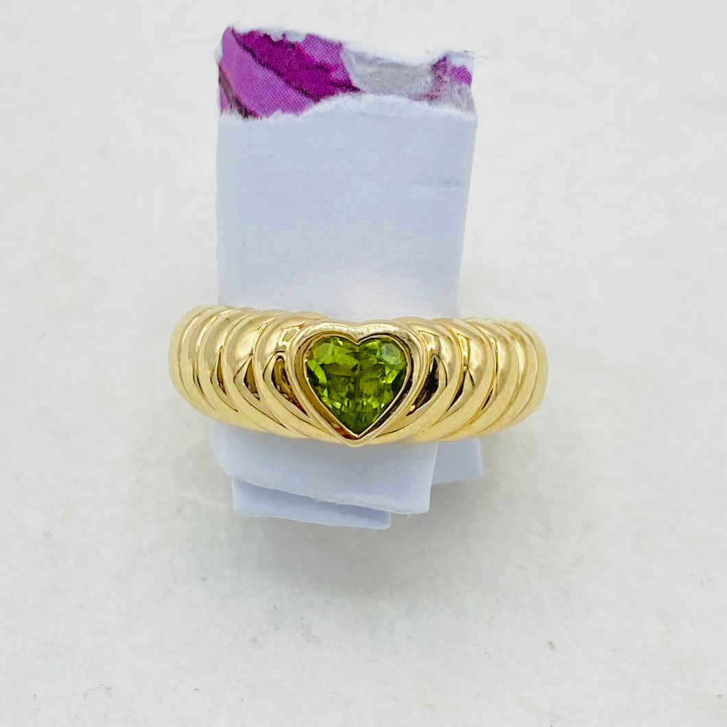Tiffany & Co Peridot Heart Ring