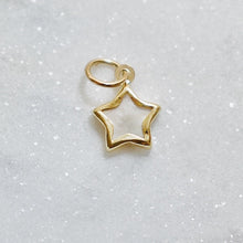 Load image into Gallery viewer, Mother of Pearl Star Earring Charm