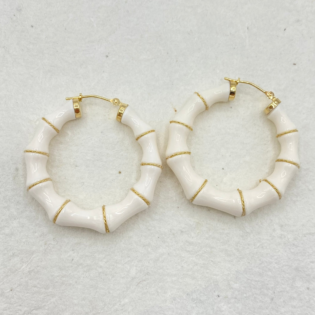 Bamboo Style Hoops