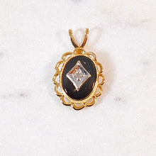 Load image into Gallery viewer, Onyx & Diamond Pendant