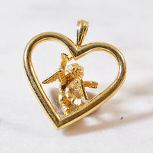 Load image into Gallery viewer, Happy Cherub Bb Heart Pendant