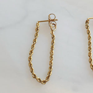 Rope Dangly Earrings Long & Lean