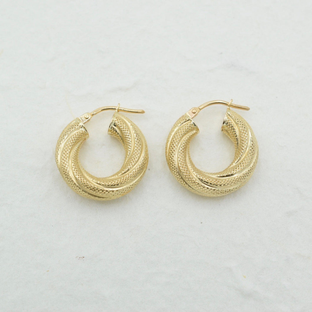 Chunky Textured Mini Hoops