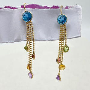 Rainbow Gemstone Dangles