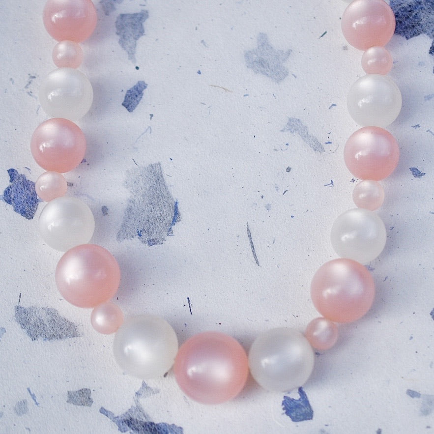Lucite Bead Necklace