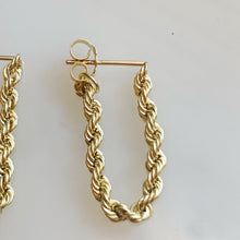 Load image into Gallery viewer, 14k Rope Dangly Earrings