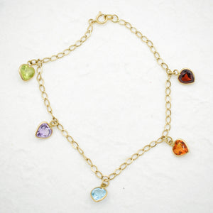 Gemstone Heart Bracelet