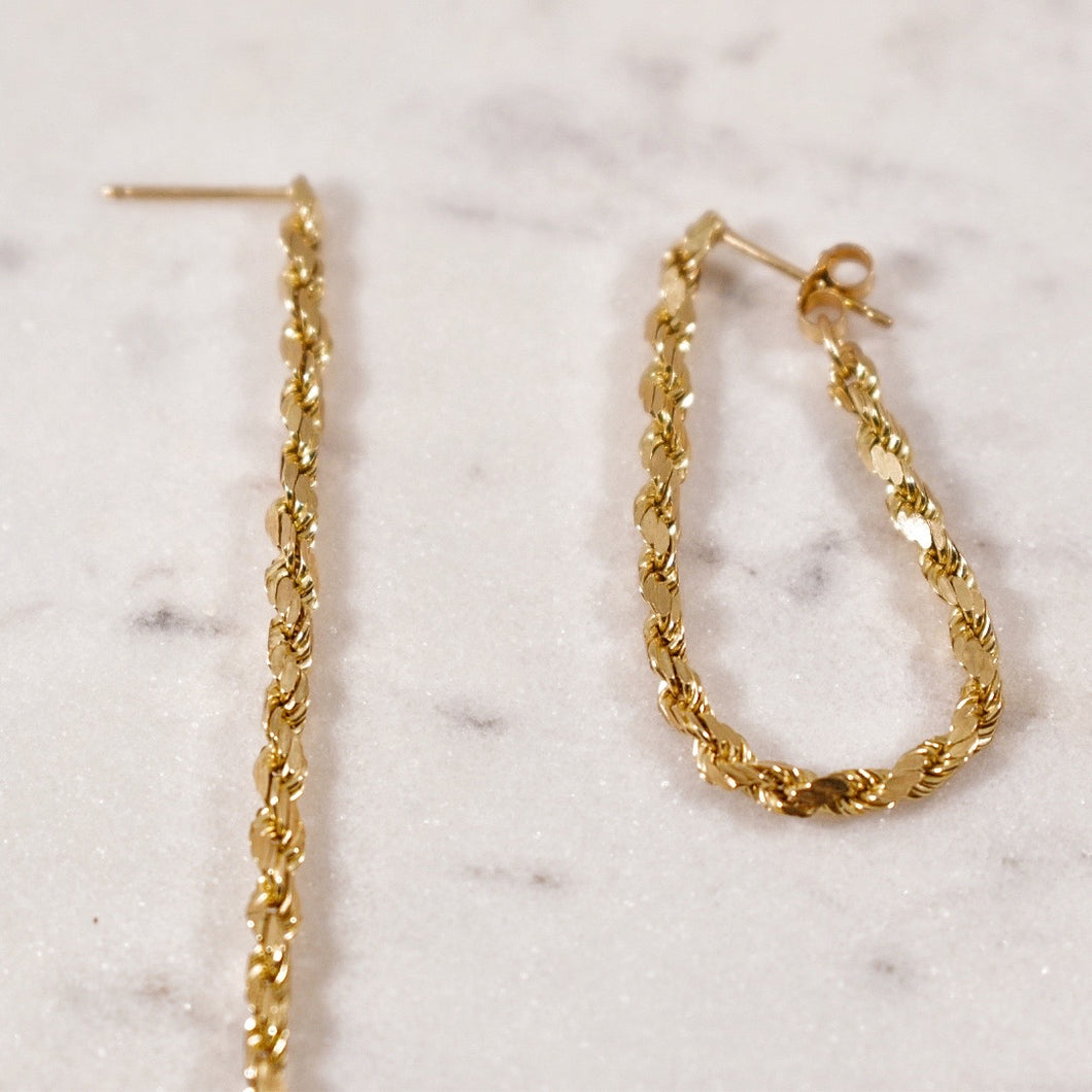 14k Dangly Rope Earrings