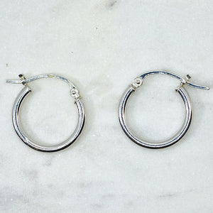 White Gold Small Hoops