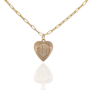 "Chai ""Life"" Heart Medallion"