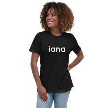 Load image into Gallery viewer, Women's Relaxed T-Shirt: iana = I Am Not Alone