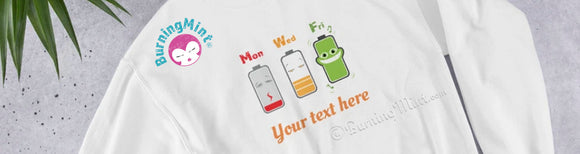 Funny shirt Battery Power Level with cute cartoon