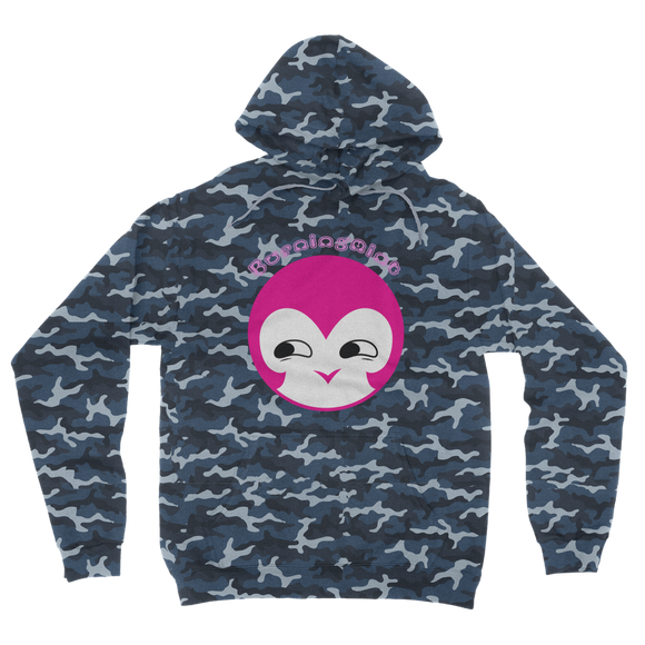 BurningMint® Cute Emoji Girl 1 Camouflage Adult Hoodie