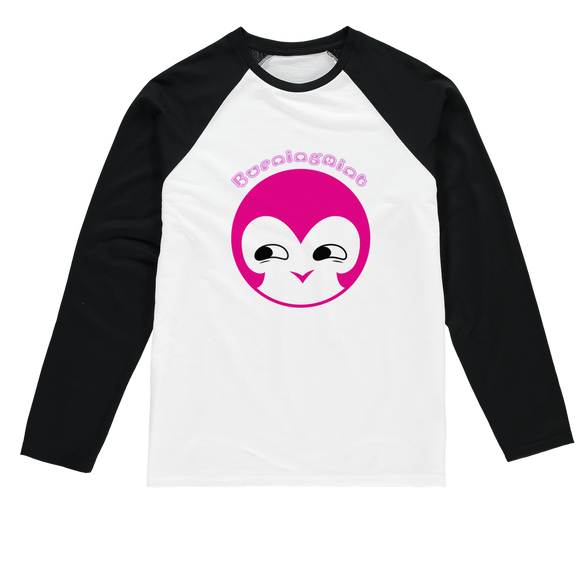 BurningMint® Cute Emoji Girl 1 Sublimation Baseball Long Sleeve T-Shirt