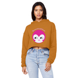 BurningMint® Cute Emoji Girl 1 Unisex Cropped Raw Edge Boyfriend Hoodie