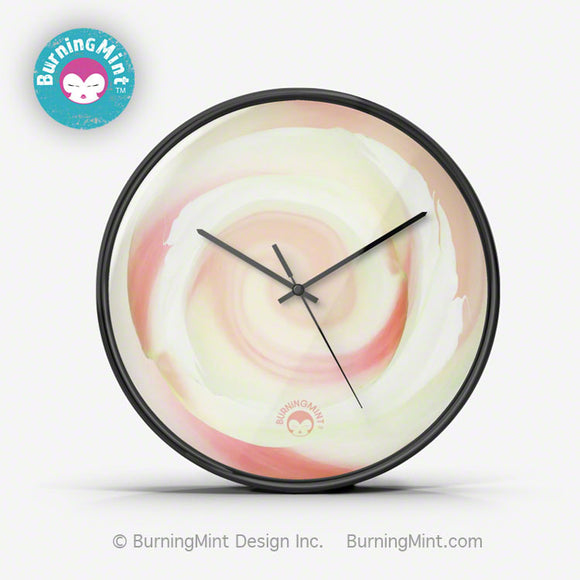BurningMint™ Wall Clock, Silent Quality Quartz Clock, Non Ticking Clock with Floral Design, Rose Wall Clock, Wall clock, Quiet Wall Clock, silent  Wall Clock, Quality Quartz clock, modern clock, minimalist clock, home décor, office decoration, room decoration, wall art