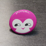 BurningMint™ Cute Novelty Badge: A Set of 3 | Cute Girl Pin Buttons [Handcrafted in USA!]