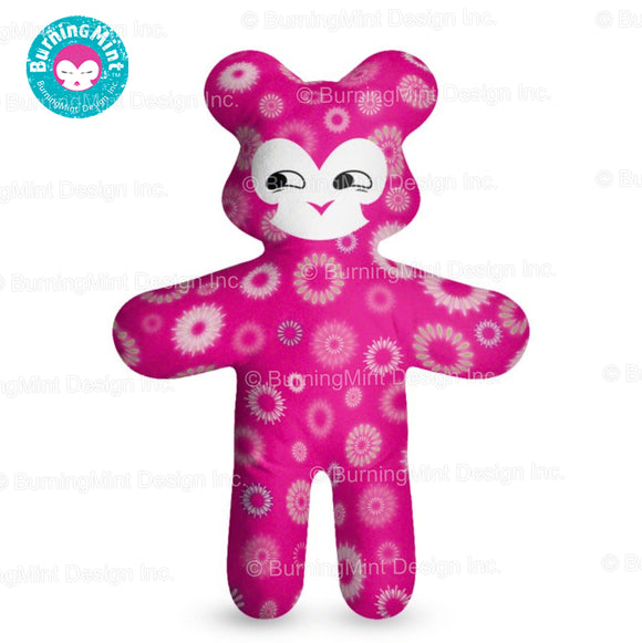 BurningMint™ Plush Doll | High-quality Teddy Bear | Stuffed Doll Christmas Gift | Pink Plush Doll with Smirk [ISO, Fire Certified]