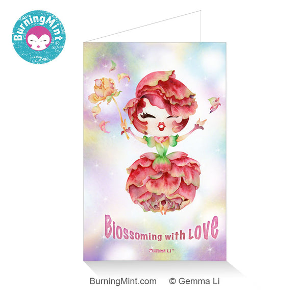 Valentine's Day Card for Singles & Couples | Blossoming with Love Card
