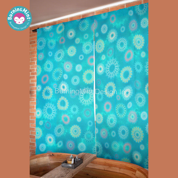 BurningMint™ Fireworks Curtains | Window Curtains For Bedroom | Window Curtains For Living Room | Door Curtains | Curtains For Doors With Glass