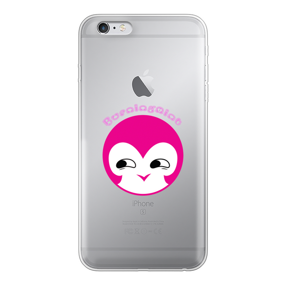 BurningMint® Cute Emoji Girl 1 Back Printed Transparent Soft Phone Case
