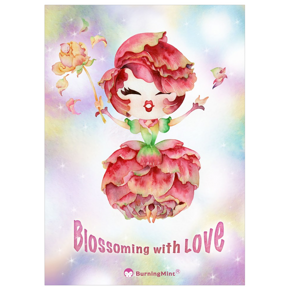 Blossoming with Love Postcard | Valentine's Cards for Singles & Lovers (free shipping!) 5 cards