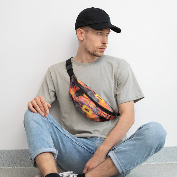 BurningMint™ Abstract Typography Fanny Pack