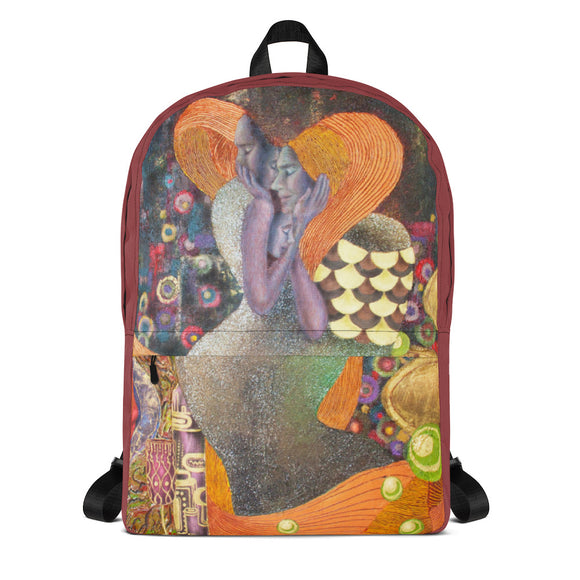 BurningMint™ Backpack with impressionist painting