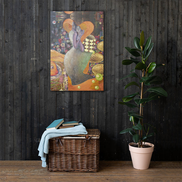 BurningMint® Canvas Art 24x36 | Inspired By Gustav Klimt's paintings (Free shipping!)