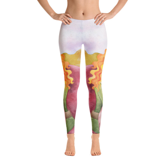 Leggings with Pretty Illustration