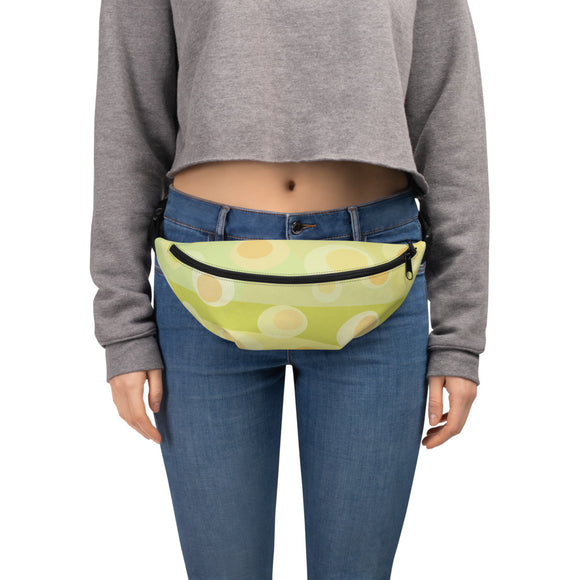 Green abstract Fanny Pack