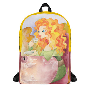 Colorful Backpack with Trendy Illustration