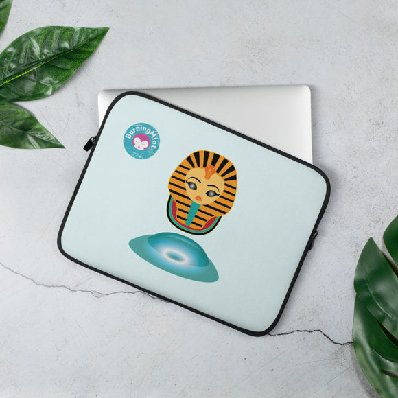 Laptop Sleeve with Egyptian Pharaoh Illustration
