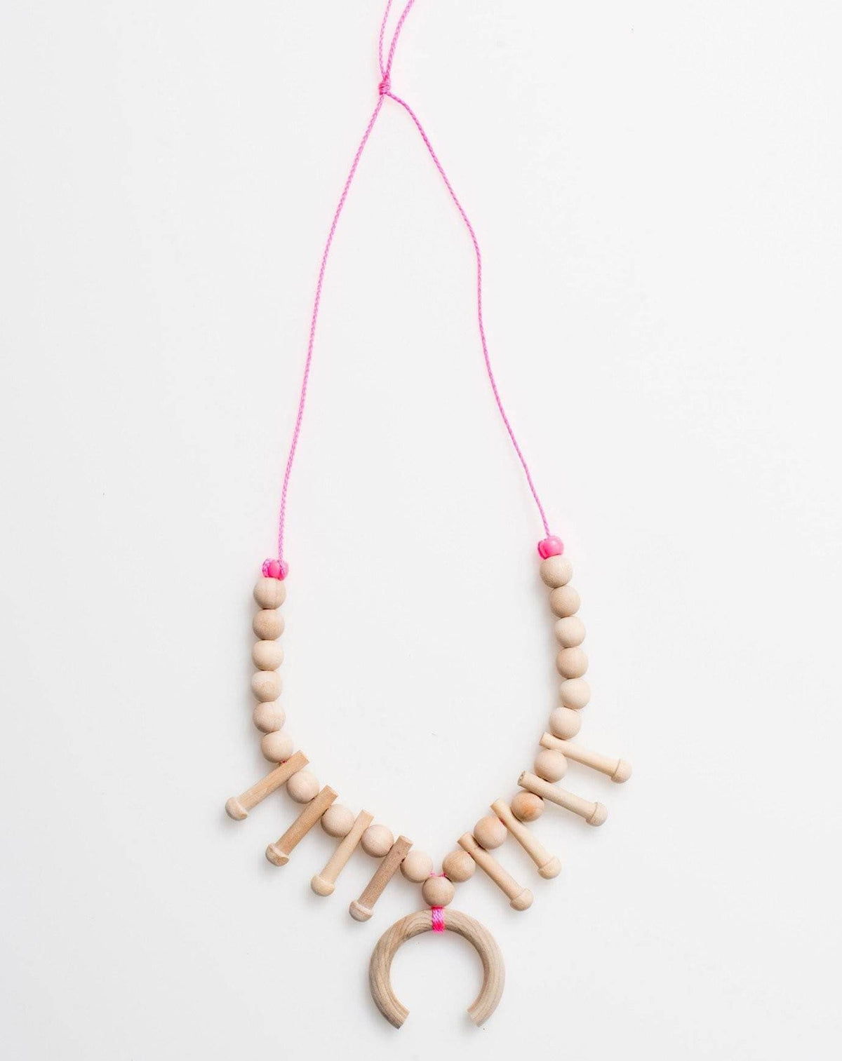 Tiger Lily Wood Necklace