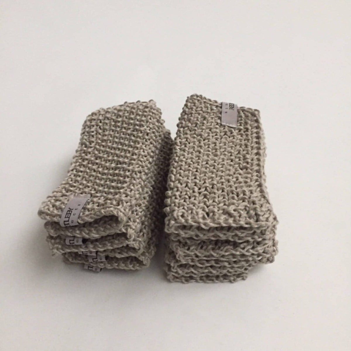 Knit Linen Washcloth