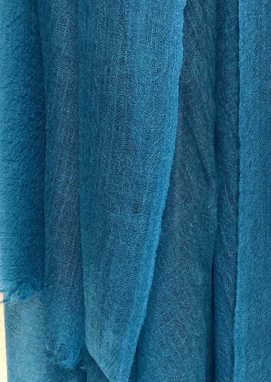Ultrafine Turquoise Cashmere Scarf