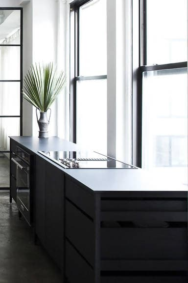 Radix Kitchen Cabinet (Midnight Black Stained Oak)