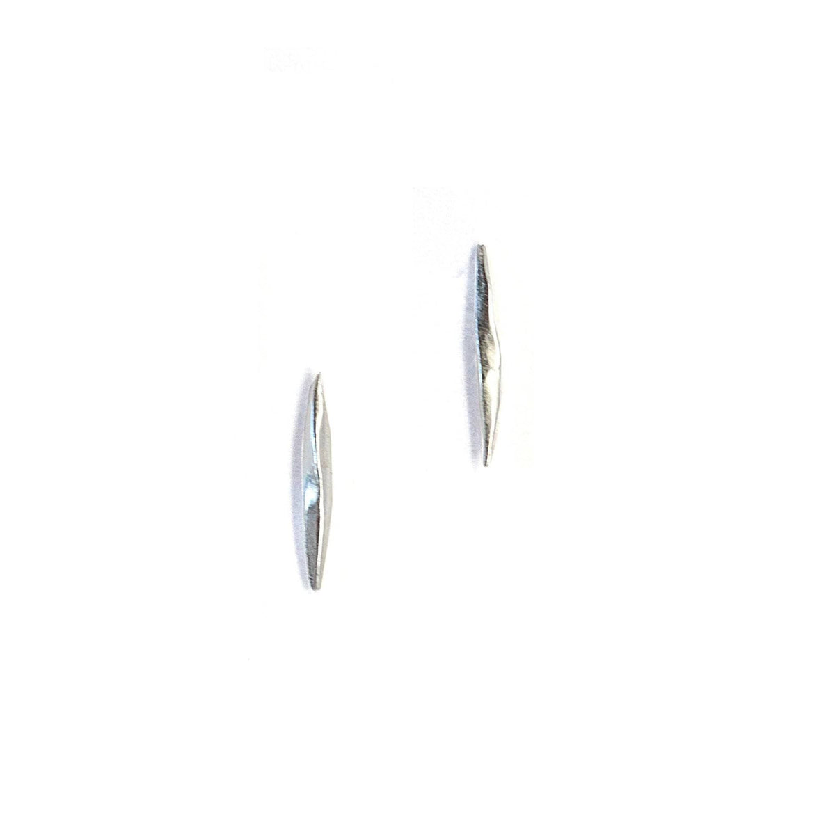 Short Twist Spike Studs Sterling