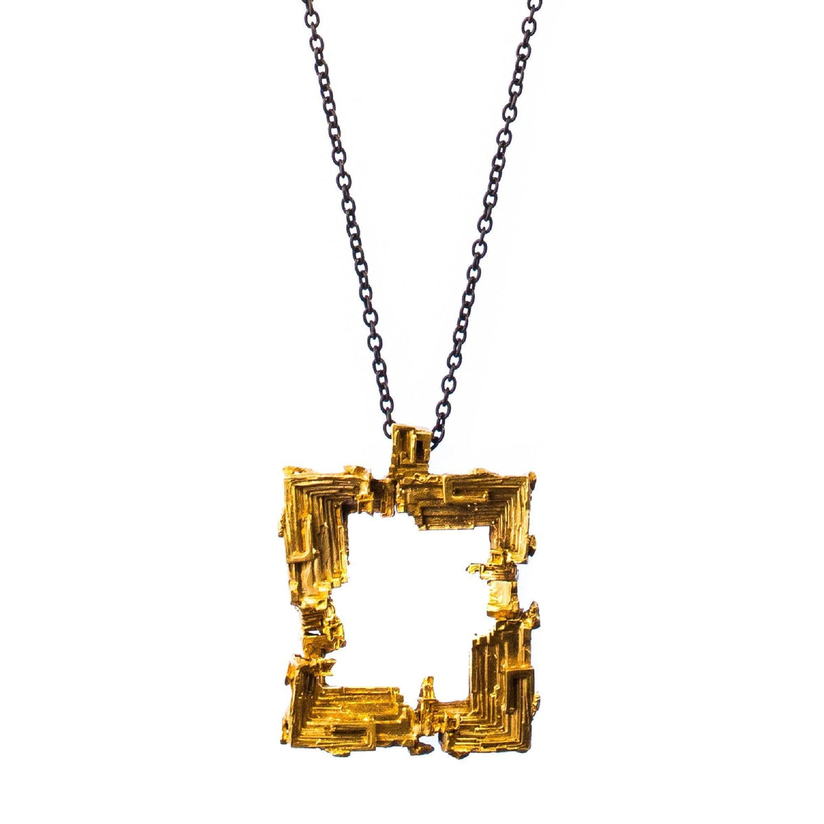 Bismuth Pendant Brass