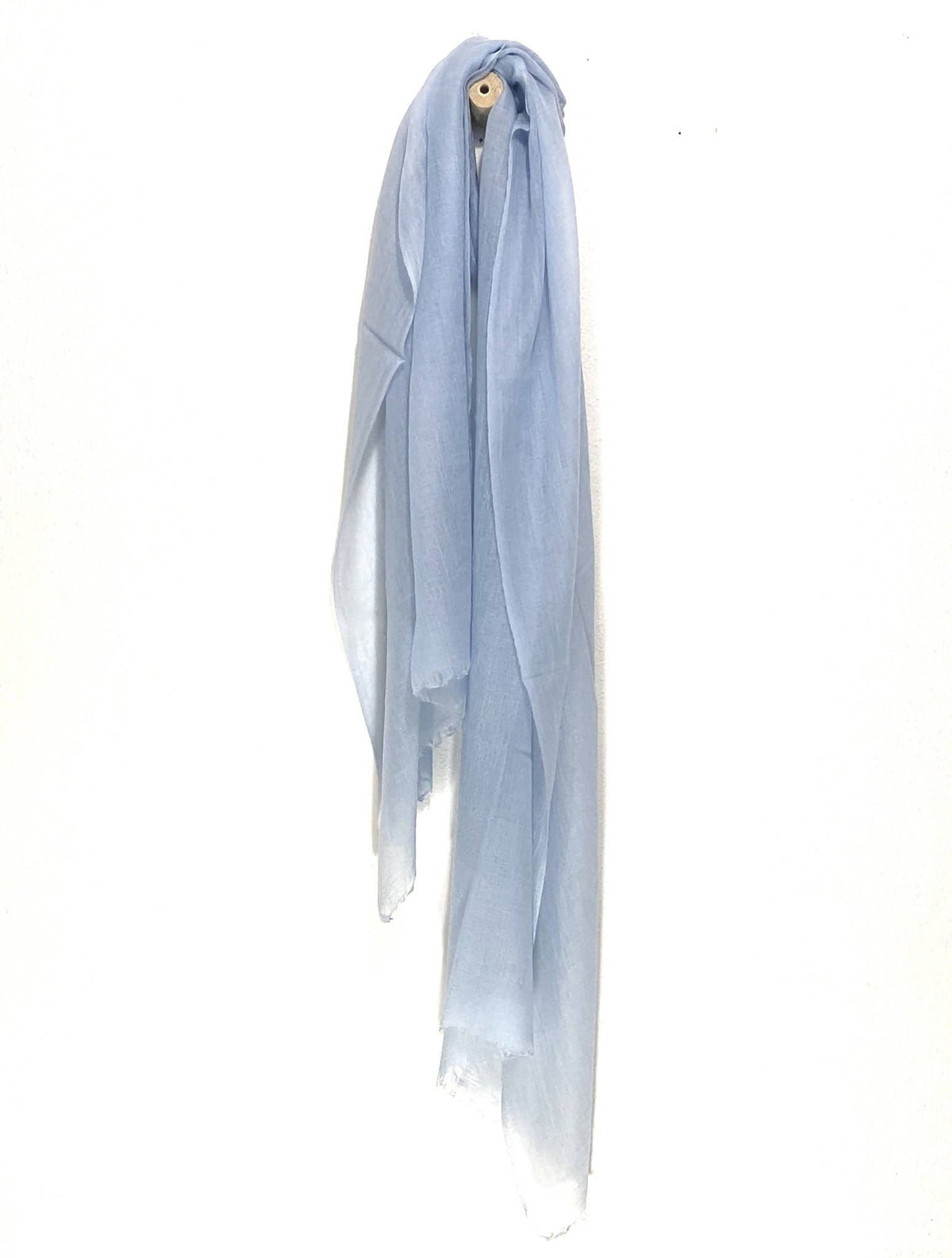 Ultrafine Powder Blue Cashmere Scarf