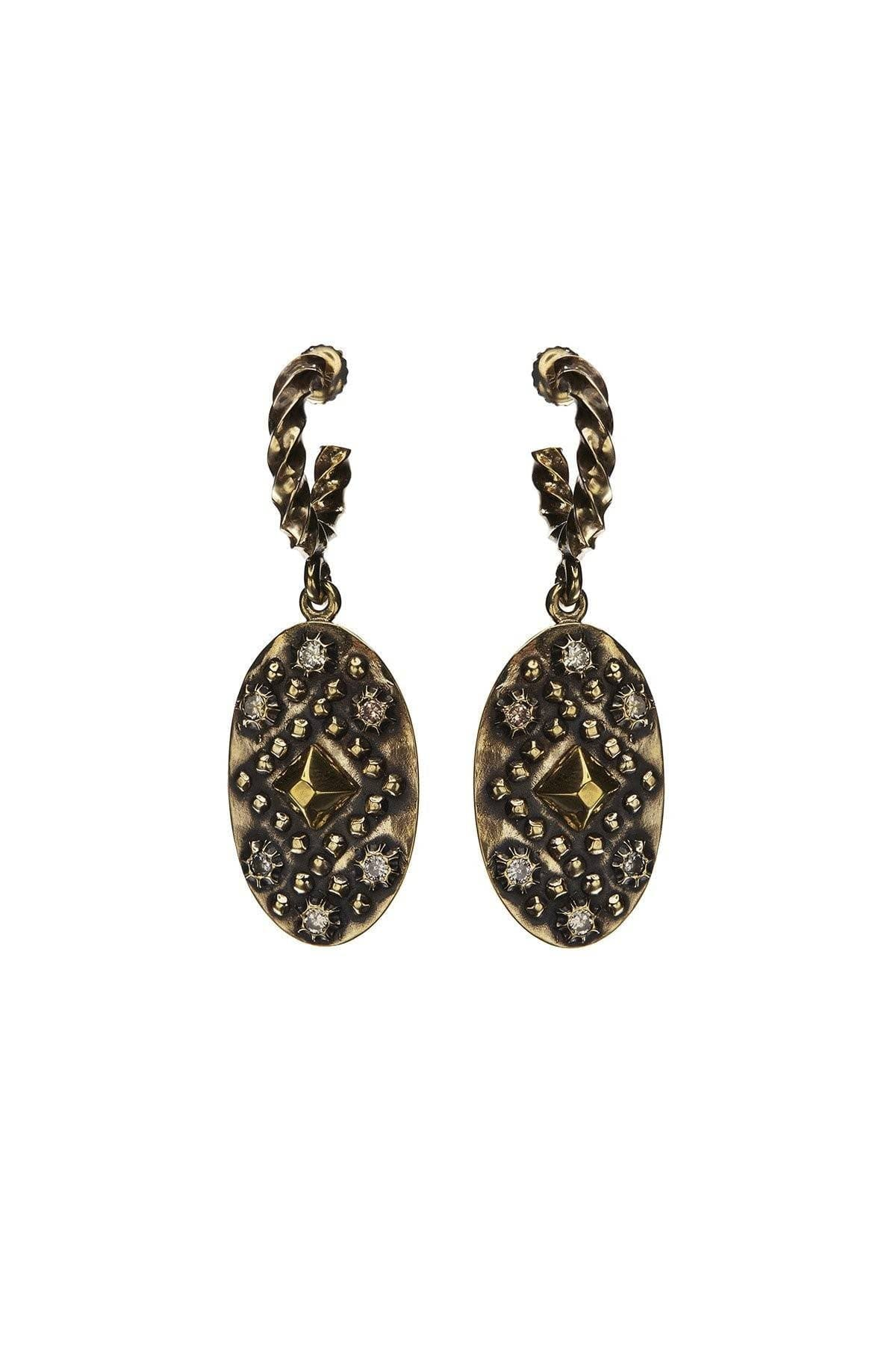 Diamondback Shield Pyramid Earrings
