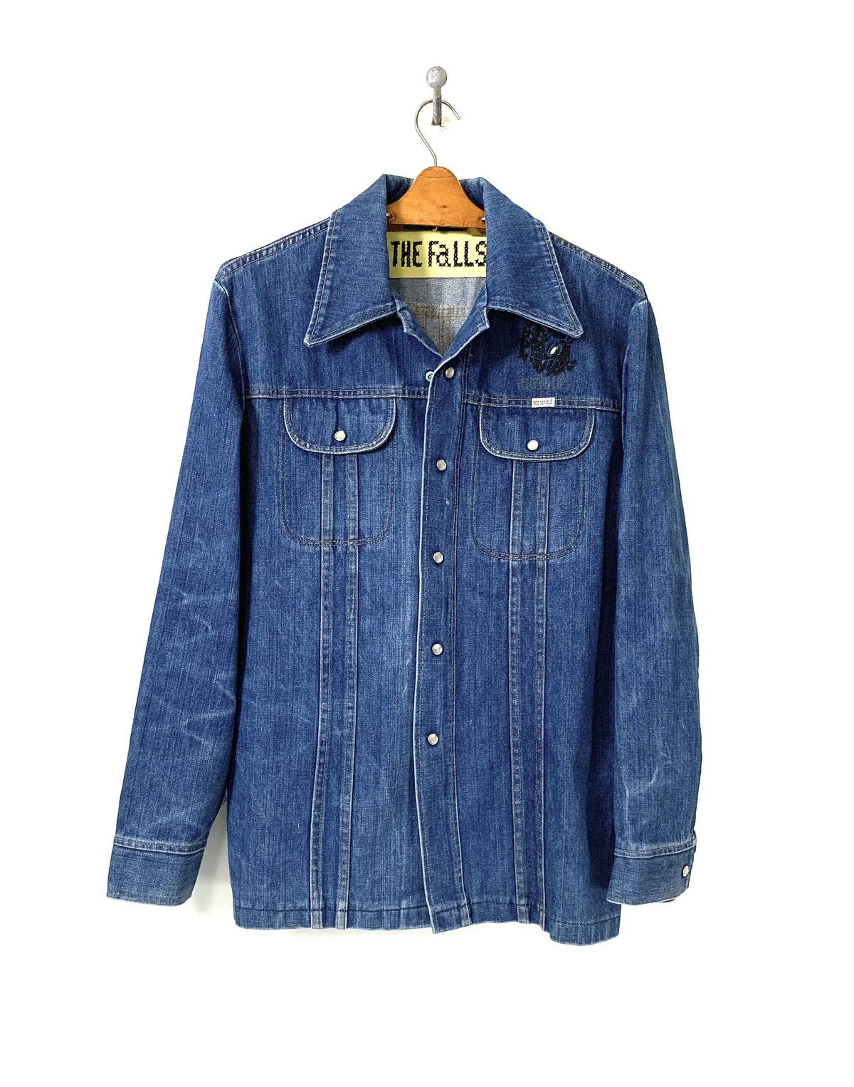 Beady eye deer denim shirt jacket