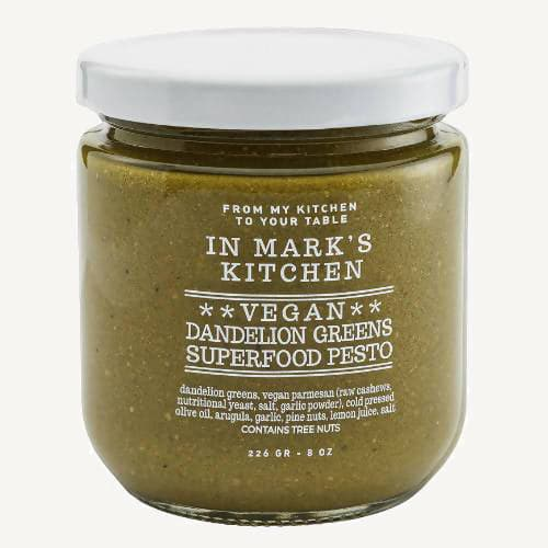 In Mark's Kitchen Vegan Dandelion Greens Superfood Pesto
